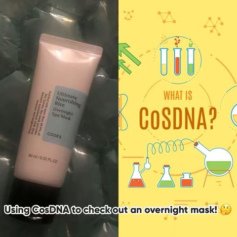 What is CosDNA? Using on an overnight spa mask !