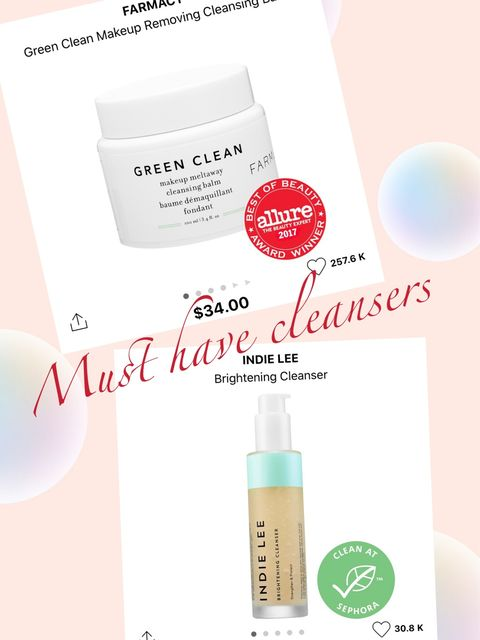 Shop Sephora- Must have cleansers