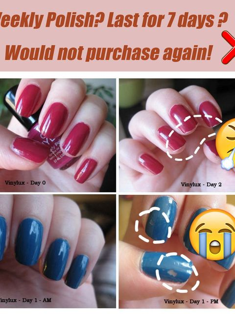 Weekly Polish? Last for 7 days ? Would not purchase again!💔😡
