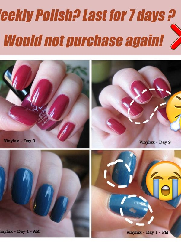 Weekly Polish? Last for 7 days ? Would not purchase again!💔😡 | Cherie