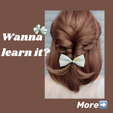 Feel bored with your hairstyle? This cute hairstyle might inspire you...