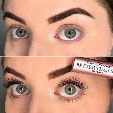 Mascara Before& After using to