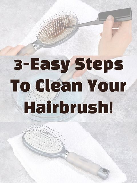 Get Your Filthy Hairbrush Looking Like New In Under A Minute!