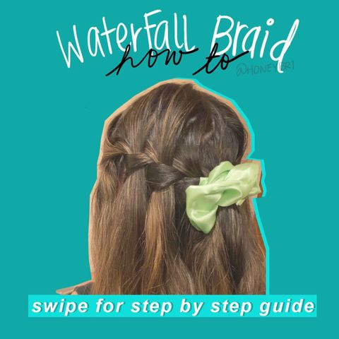 Cute and easy WATERFALL braid! How to 💕