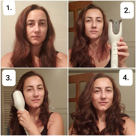 Don't do this - Using the hair curler on wet hair!