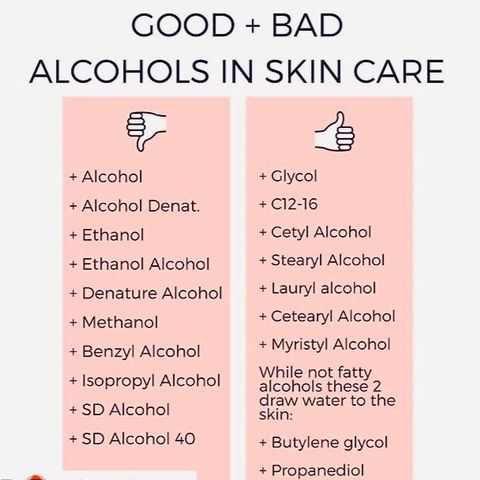 The Good and Bad Alcohols of Skincare.