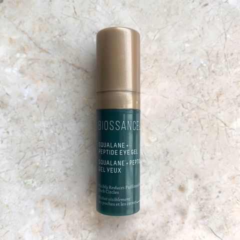 BIOSSANCE SQUALANE + PEPTIDE EYE GEL REVIEW