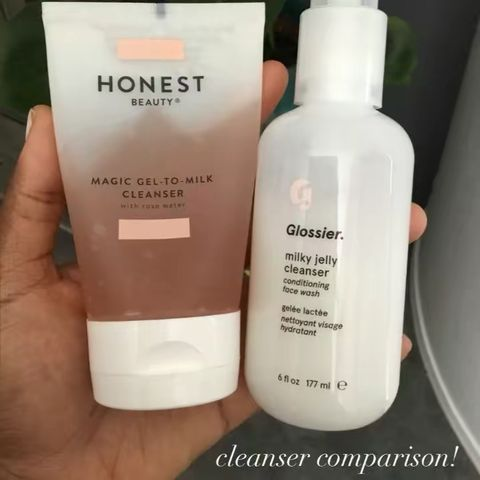comparing milky cleansers! 🥛