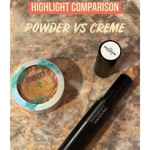 Highlight Comparison: Creme vs. Powder
