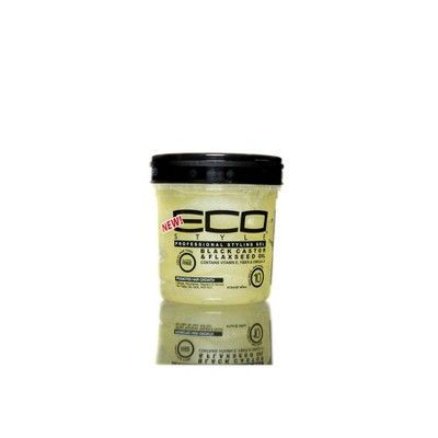 Eco Style Professional Styling Gel Black Castor & Flaxseed Oil