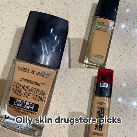 👏 Amazing foundations for Oily Skin! 👏