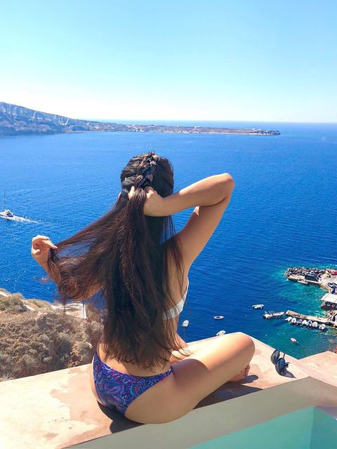 enjoy braiding my hair with a beautiful view 😍