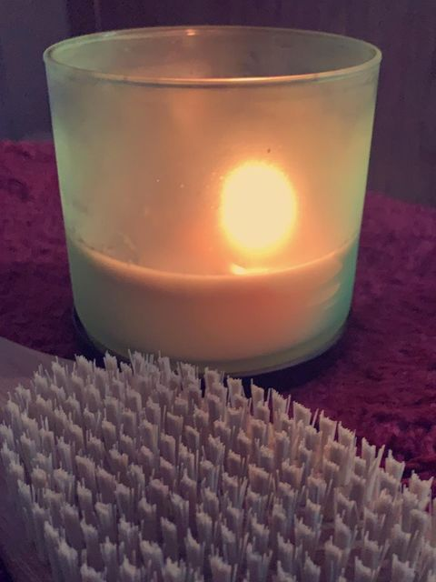 Light a candle n relax😌🛀🏽