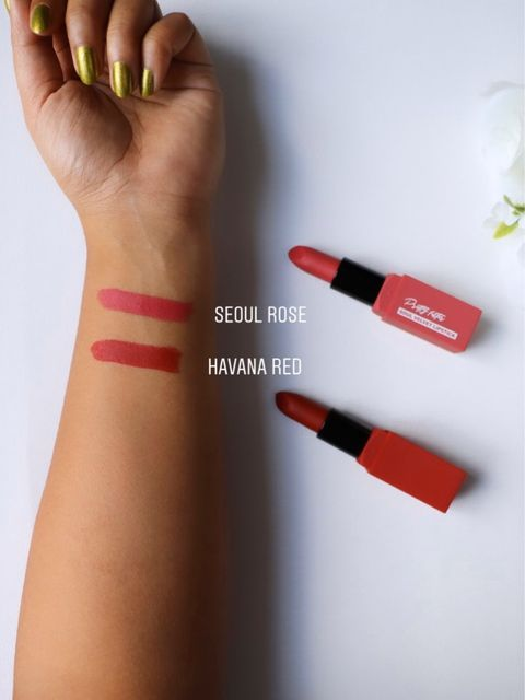 Touch in Sol velvet lipstick and swatches