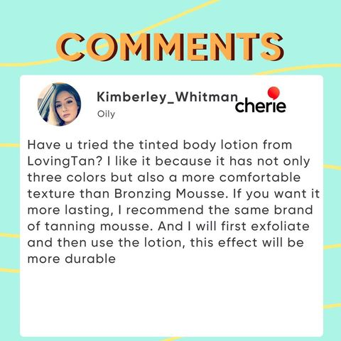 Picked Comments: Body Lotion