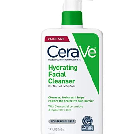 Hydrating Face Cleanser For Normal To Dry Skin, CeraVe, cherie
