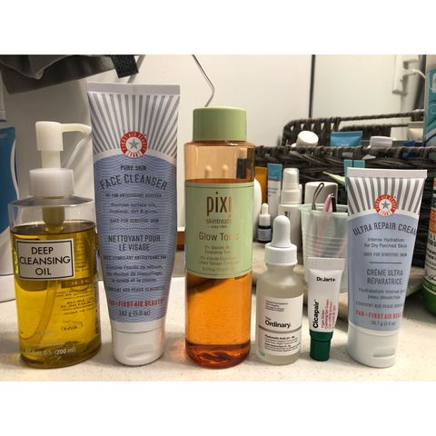 official day/night skincare routine