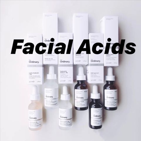 Facial Acids and Their Burning Popularity
