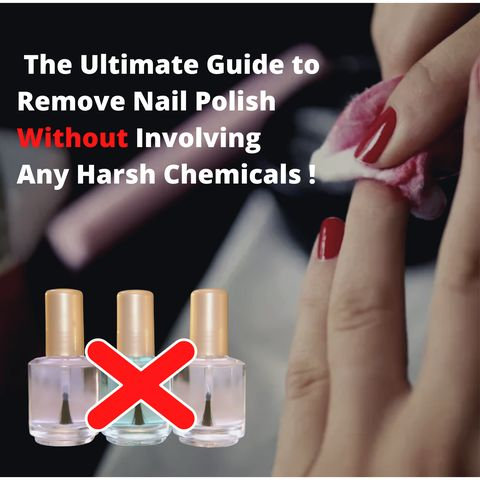 Can we remove nail polish without involving any harsh chemicals😱😱?