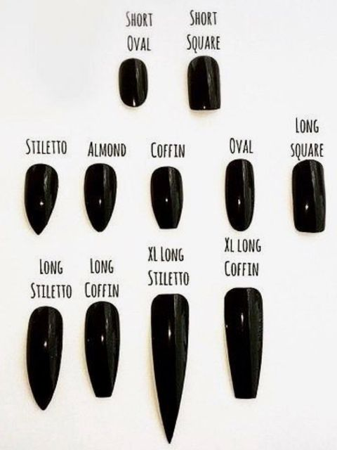 Which types do you prefer? Little tips about your nail shapes