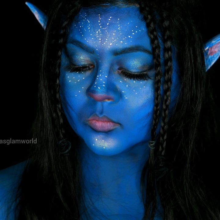 I turned myself into Neytiri from Avatar👽😊