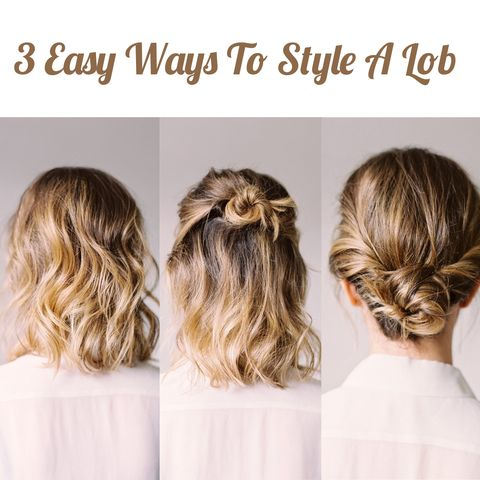 💇‍♀️ 3 Easy Ways To Style A Lob 💇‍♀️
