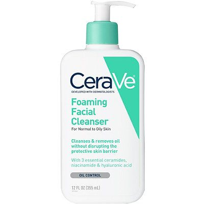 Foaming Facial Cleanser For Normal To Oily Skin, CeraVe, cherie