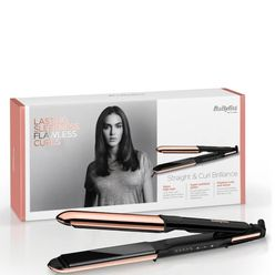 Straight and Curl Brilliance Rose-Gold Hair Straightener