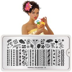 Stamping Plate Tropical