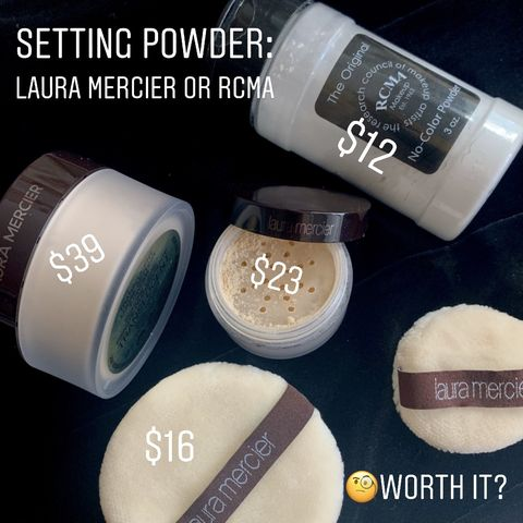 Setting powder: Laura Mercier or RCMA?