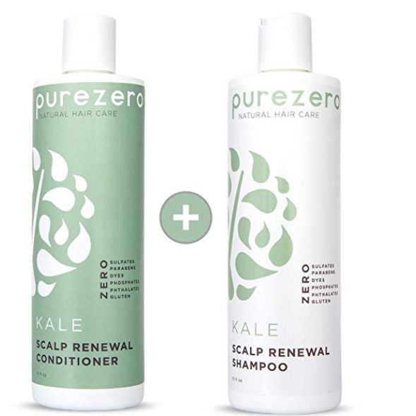 Kale Superfood Shampoo & Conditioner Set, purezero, cherie