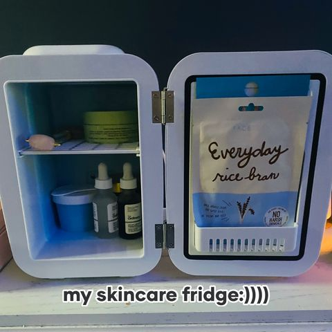 Whats in my skincare fridge?