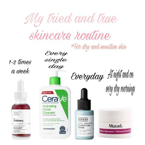 Skincare routine for dry sensitive skin