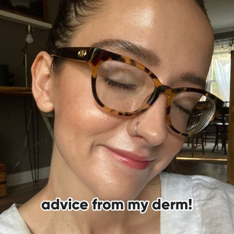 Skincare advice from my derm