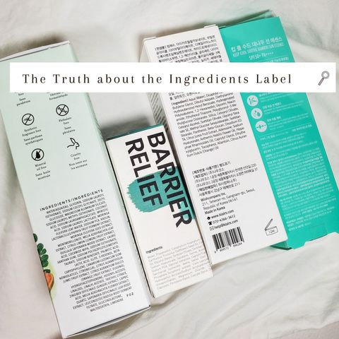 Truth about the Ingredients Label