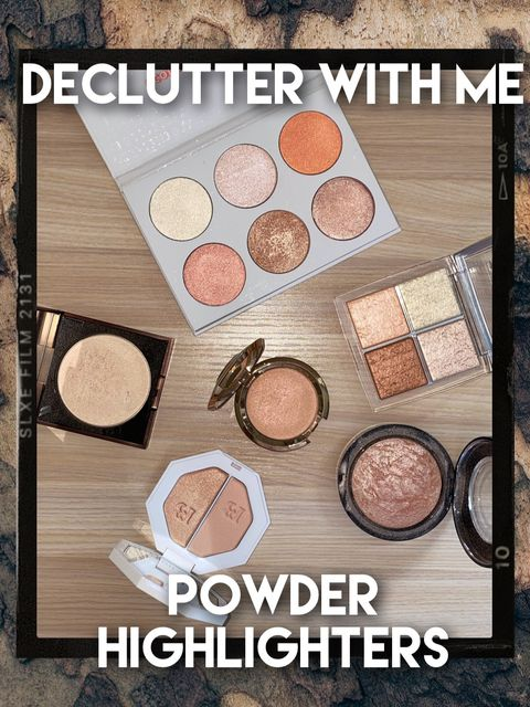 Declutter With Me! POWDER HIGHLIGHTER 💖✨