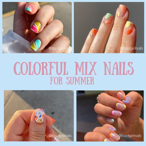 🧡💛💚💙💜 Nail Color Combinations for Summer💅💅💅