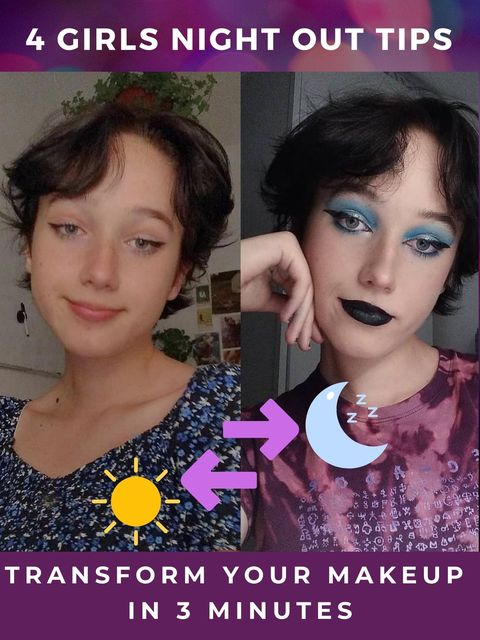 Cute VS Cool🤔Easy Day to Night Makeup Hacks!