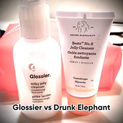 "Battle of the ""Jelly"" Cleansers: Glossier vs. DE"