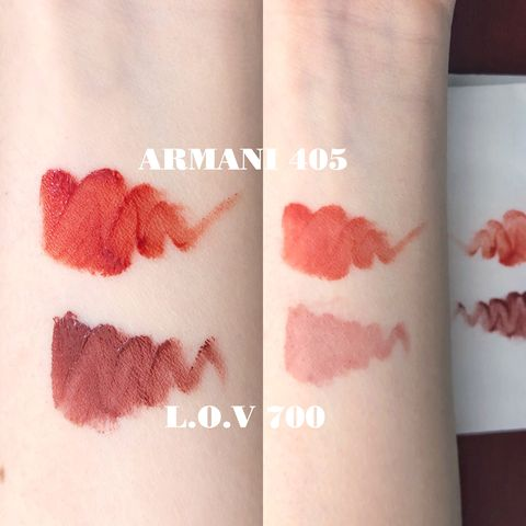 Dupe, Worth it? L.O.V versus ARMANI lipstick