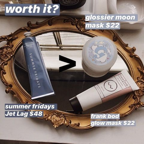 worth it? Jet lag vs moon mask and glow mask