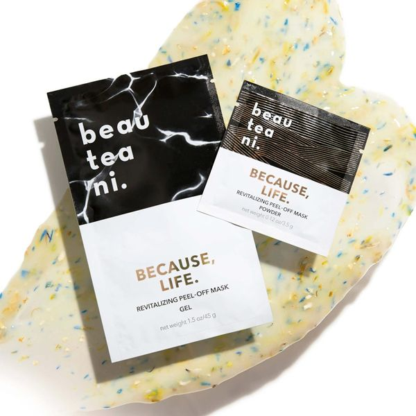 BECAUSE, LIFE. modeling peel-off mask, Beautini, cherie