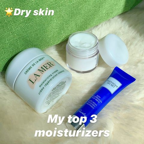My top 3 moisturizers – for dry skin