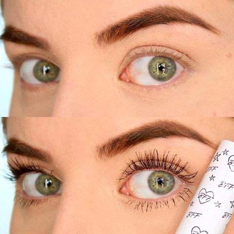Mascara Before & After using t