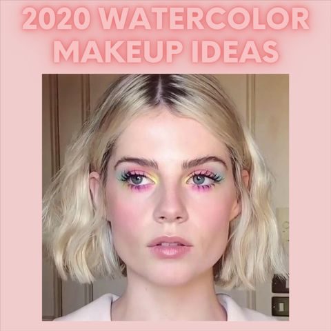 2020 watercolor makeup ideas for that dreamy look!