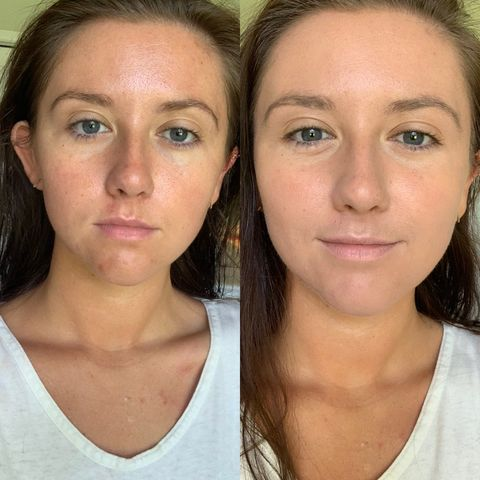 Medium coverage makeup+skincare