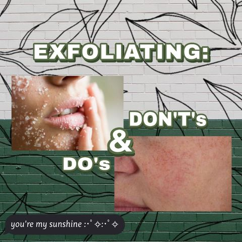 ARE YOU EXFOLIATING SAFELY? 😟🤭