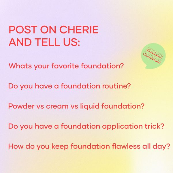 Trending topic 🏷 Flawless foundation   Cherie