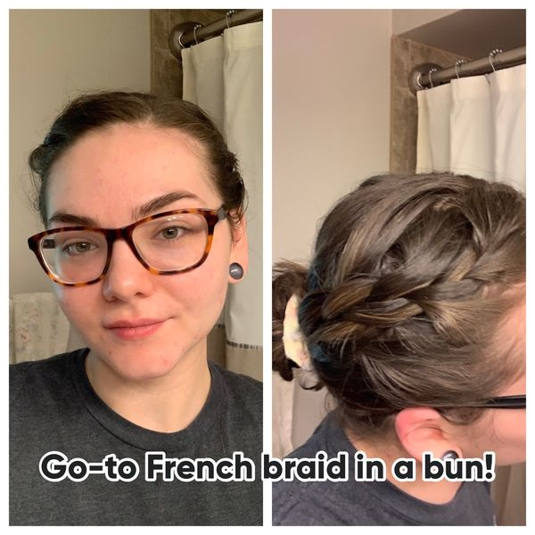 My go-to French braid in a bun! | Cherie