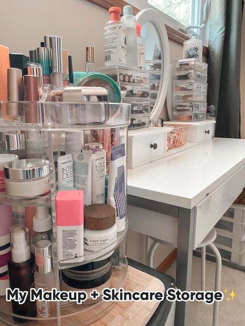 Affordable Beauty Room Organization
